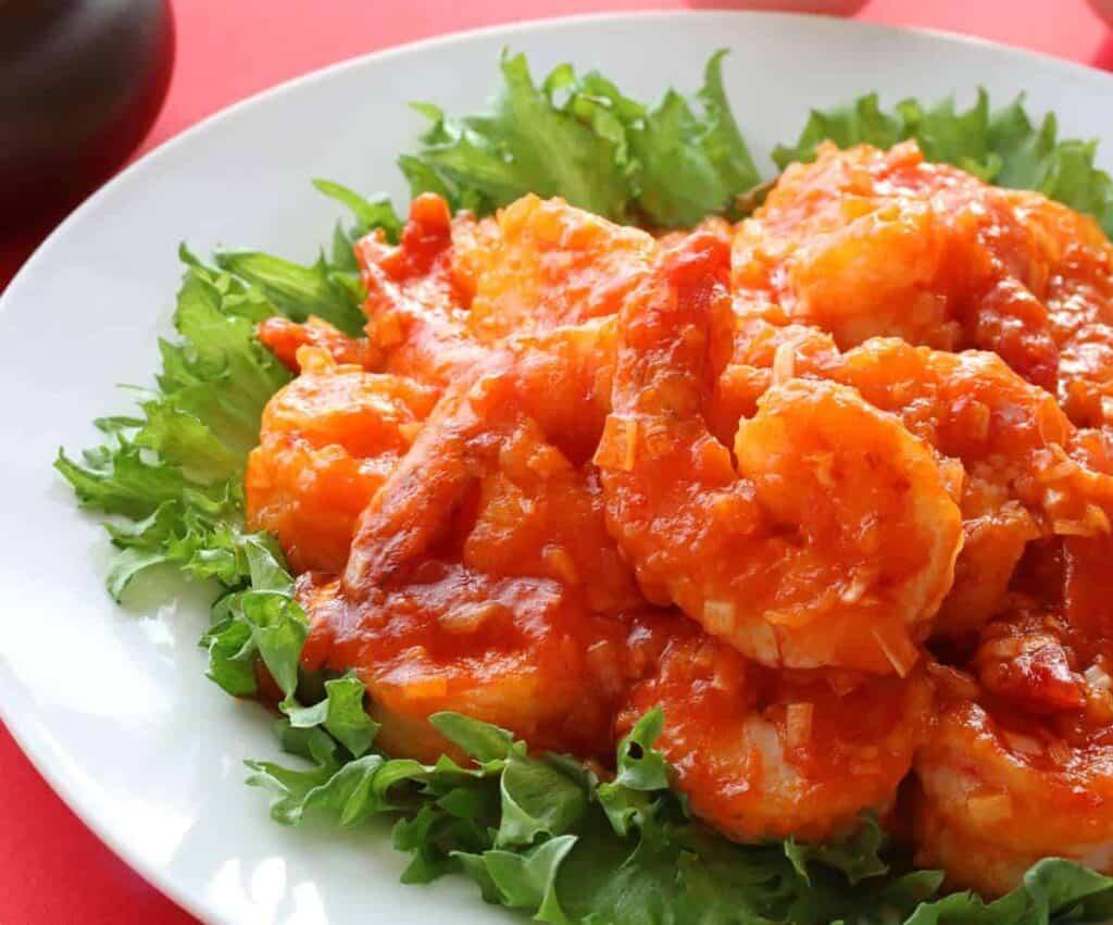 receta de camarones a la diabla