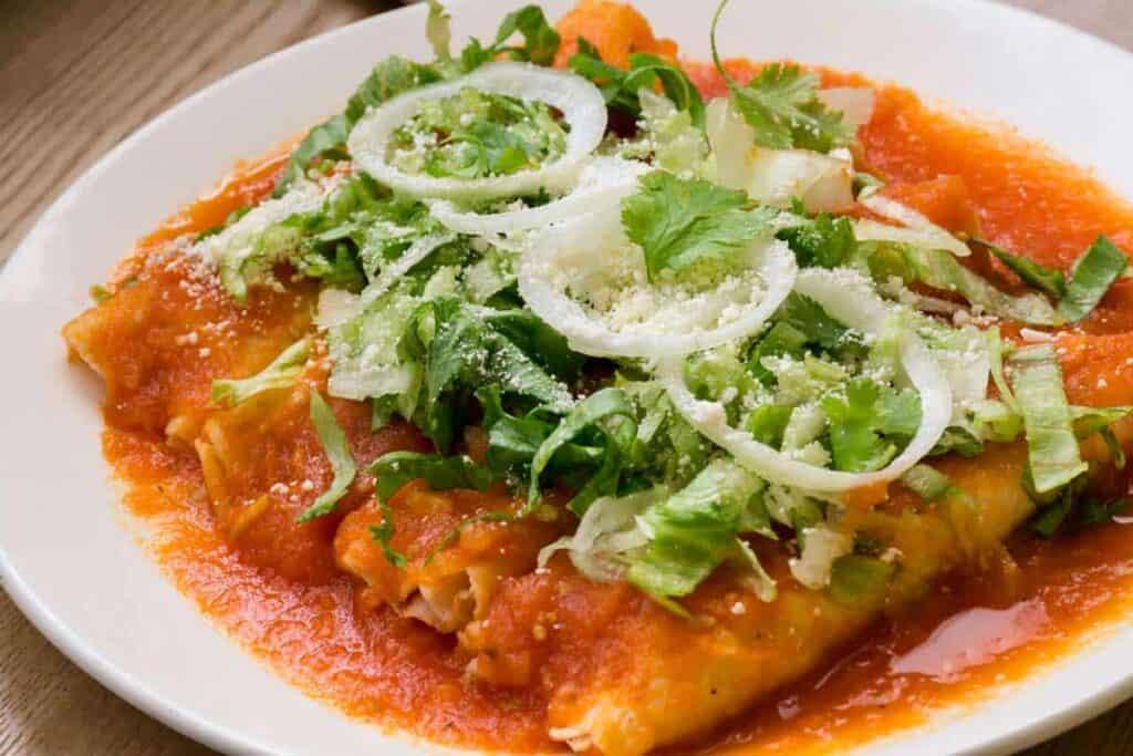 receta de enchilada