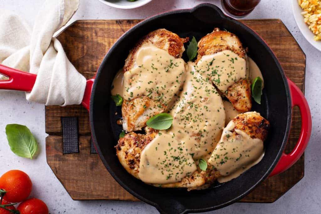 receta de pollo en crema chipotle