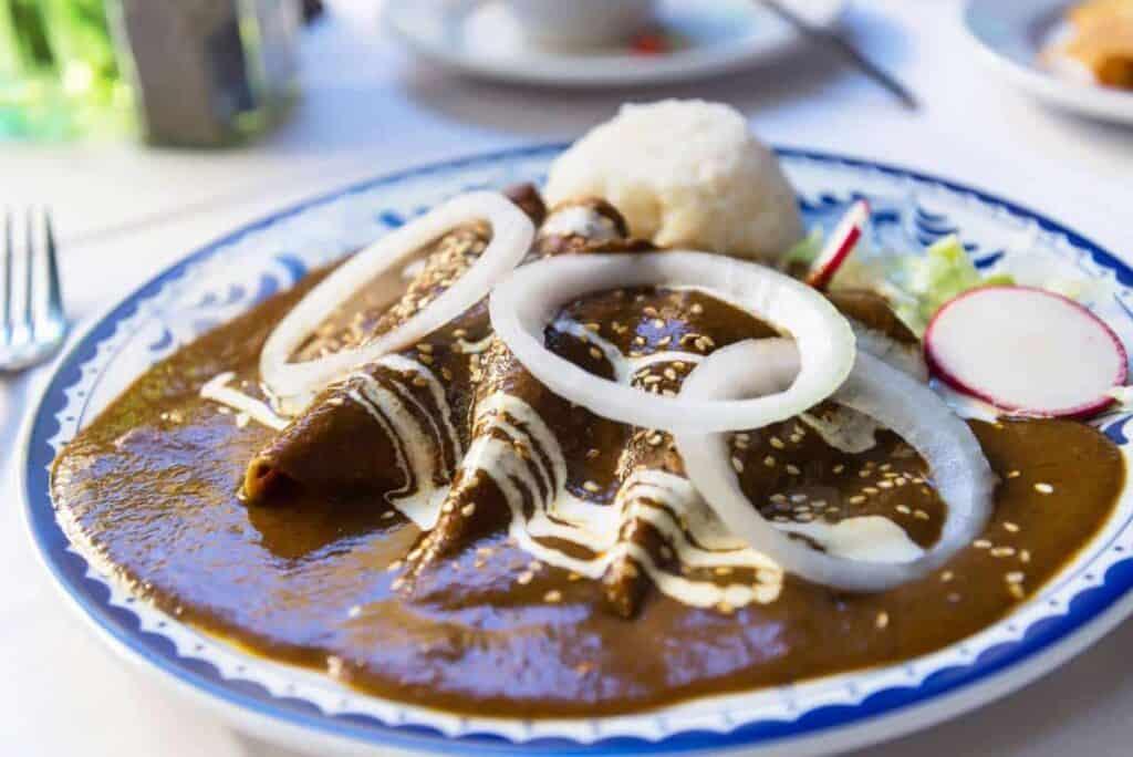 receta de enchiladas de mole